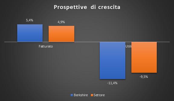 Prospettive di crescita Berkshire vs settore